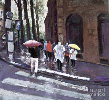 PARIS in the rain by Joyce A Guariglia