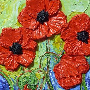 Paris' Red Poppies by Paris Wyatt Llanso