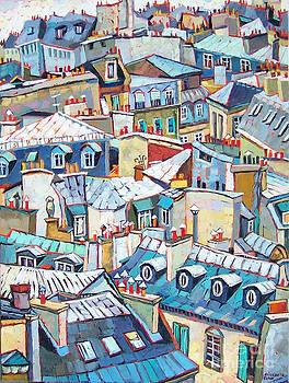 Paris Rooftops by Elizabeth Elkin