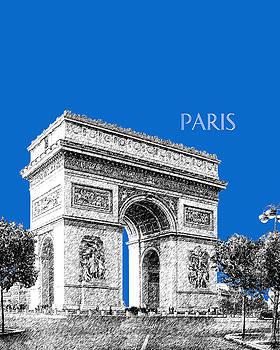 DB Artist - Paris Skyline Arc de Triomphe - Blue
