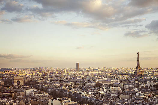 Paris Skyline at Sunrise by Irene Suchocki