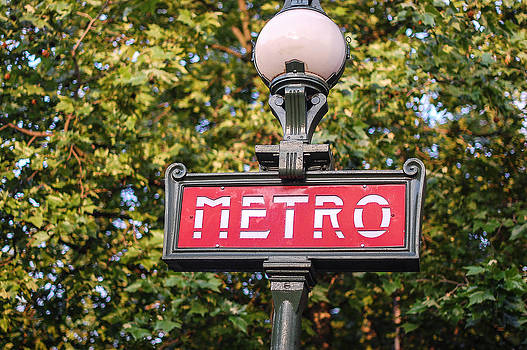 Parisian Metro Sign by Dany Lison