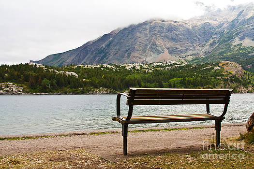 Park Bench at the Lake by Rachel Duchesne