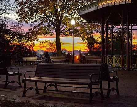 Bill Swartwout Fine Art Photography - Park Bench Evening