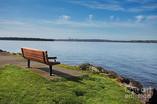 Jo Ann Snover - Park bench overlooking Lake Washington