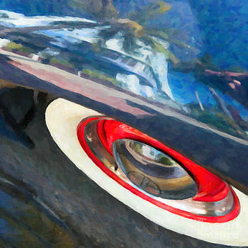 Ian Monk - Park Central Hotel Reflection - South Beach - Miami - Square - Oil Paint Effect