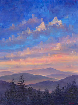 Parkway Ridges at Dusk by Jeff Pittman