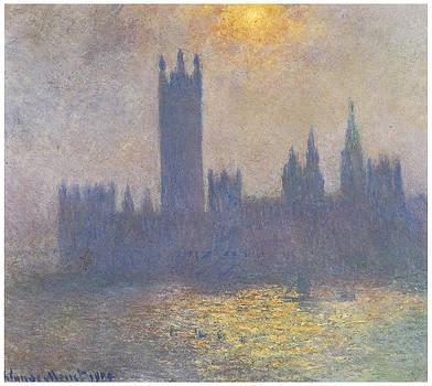 Claude Monet - Parliament Sunlight Effect in the Fog