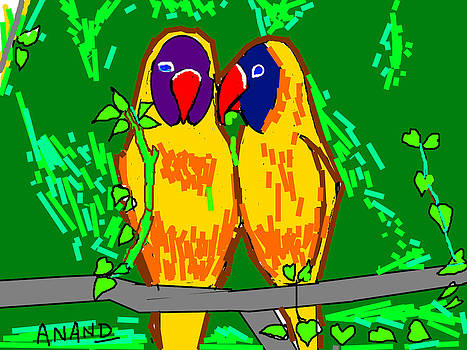 Anand Swaroop Manchiraju - PARROTS IN LOVE-5