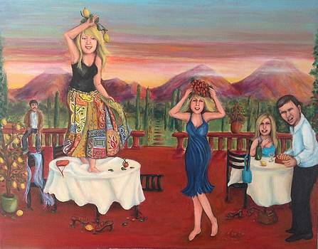 Party In Tuscany by Cathi Doherty