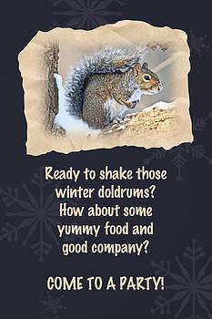 Mother Nature - Party Invitation - Eastern Gray Squirrel - Sciurus carolinensis