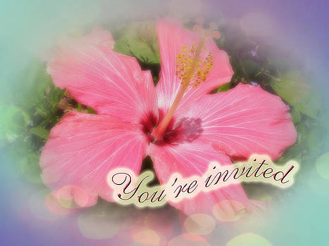 Mother Nature - Party Invitation - Pink Hibiscus