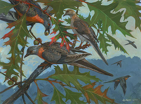 Passenger Pigeon by ACE Coinage painting by Michael Rothman
