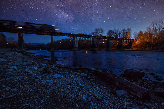 Passing the Milky Way by Greg  Booher