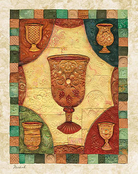 Passover cups - Mosaic by Michoel Muchnik