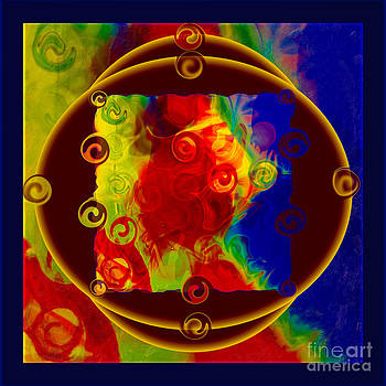 Omaste Witkowski - Past Present and Future Abstract Healing Art