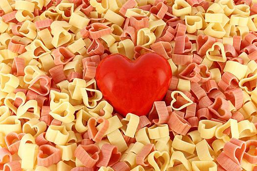Pasta and a heart by Borislav Marinic
