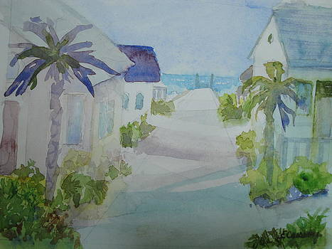 Pastel Beach Street by Evelyn Cassaday