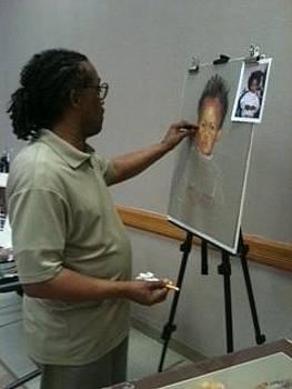 pastel portrait Demo by Leonard R Wilkinson