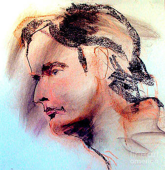 Pastel Portrait of a Man by Greta Corens