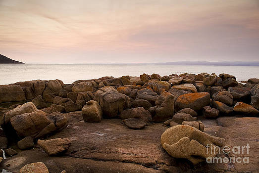 Tim Hester - Pastel Rocks at Sunset