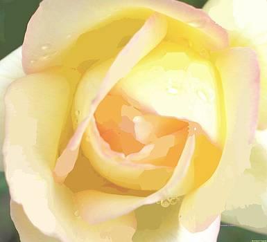 Rosemarie E Seppala - Pastel Yellow Rose
