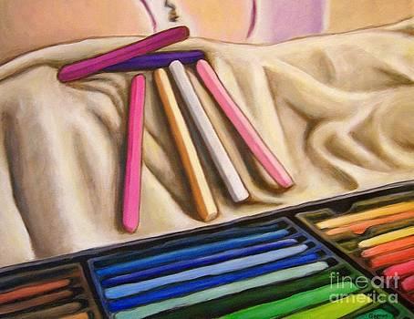 Pastels secs by Josiane Gagnon