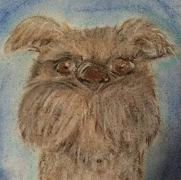 Pastels Terrier Dog by Melissa Osborne