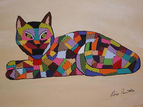Patched Cat by Lois D  Psutka