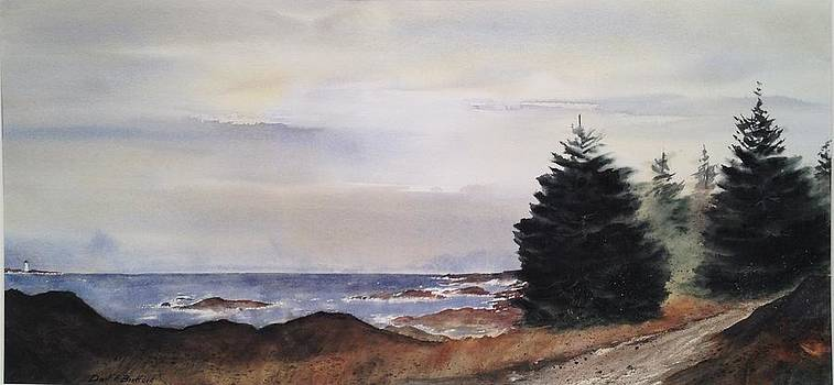 Path To Ucluelet in Winter   VICTORIA ISLAND  BC Watercolor  by Don F  Bradford