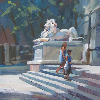 Patience the NYPL Lion by Patti Mollica
