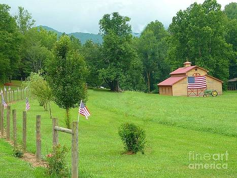Patriotic Barn by Annette Allman