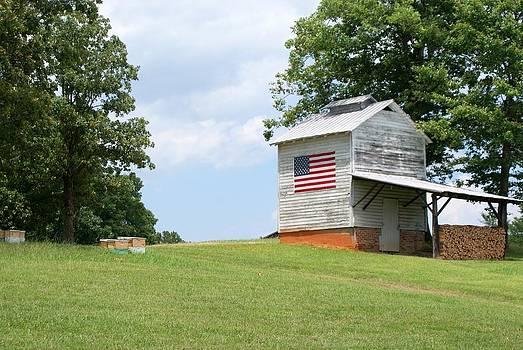 Patriotic Barn by Bill Talich