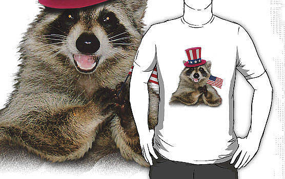 Jeanette K - Patriotic Raccoon Shirt