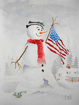 Patriotic Snowman by Jimmy Smith