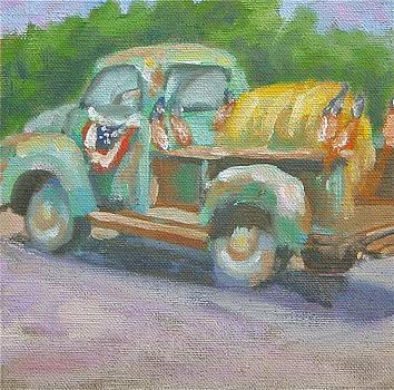 Patriotic Truck by Elaine Hurst