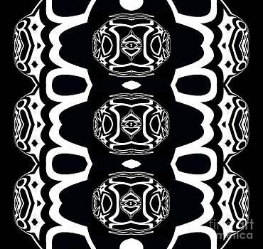 Drinka Mercep - Pattern Black White Art No.257.