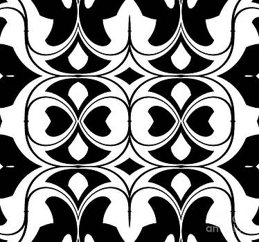 Pattern Black White Art Print No.300. by Drinka Mercep