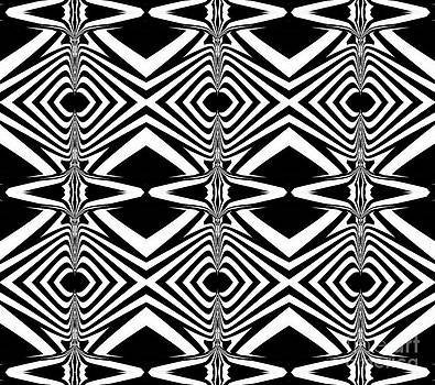 Pattern Black White Art Print No.319. by Drinka Mercep