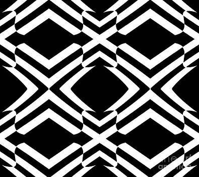 Pattern Black White Op Art No.292. by Drinka Mercep