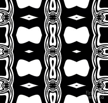 Pattern Geometric Black White Art Print Art No.309. by Drinka Mercep