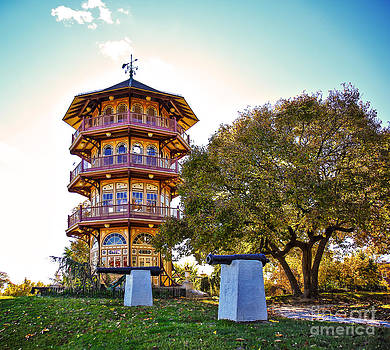 Patterson Park Pagoda Aglow  by SCB Captures