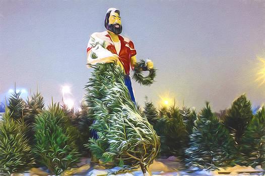 Chris Bordeleau - Paul Bunyan over Winter Pines - Artistic