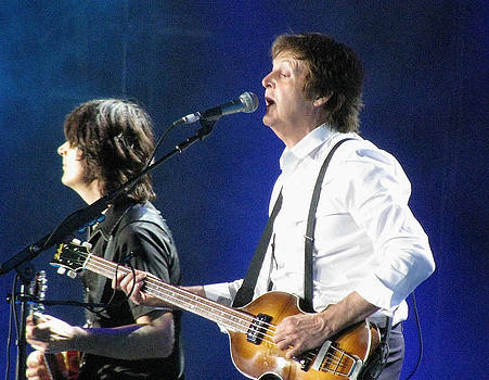 Paul McCartney and Rusty Anderson by Melinda Saminski