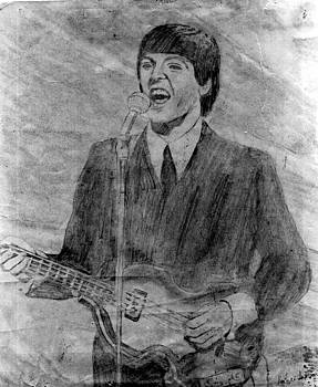 Paul McCartney on Ed Sullivan by Rodger Larson