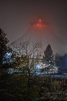 Pavillion in the fog by Dan Quam