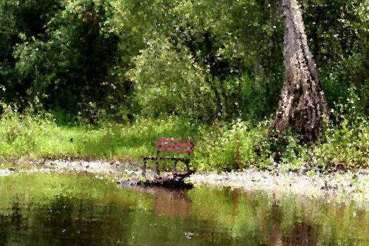 Peace by the River by April Wietrecki Green