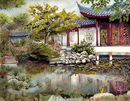 Peace in Garden by Eileen  Fong