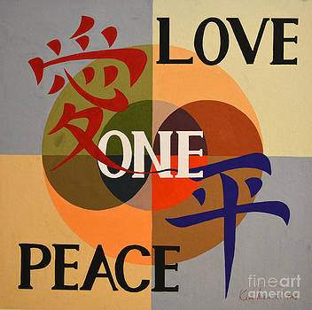 Peace Love One 2 by Heewon Kim