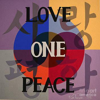 Peace Love One 3 by Heewon Kim